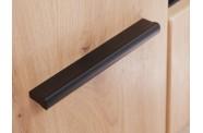 Meblościanka SOLIDO dąb artisan/ czarny mat
