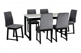Zestaw stół ALBA 3 + 6 krzeseł HUGO 6