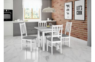 Zestaw stół MAX 7 + 4 krzeseł BOS 5