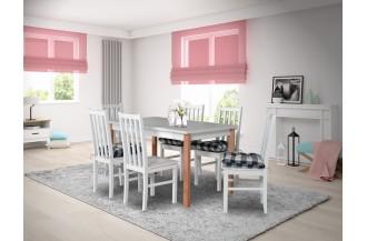 Zestaw stół ALBA 1 + 6 krzeseł BOS 10D