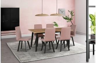 Zestaw stół OSLO 5 + 6 krzeseł HUGO 2