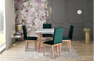 Zestaw stół OSLO 1 + 4 krzeseł HUGO 5