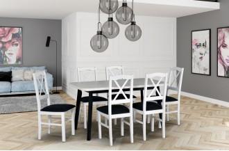 Zestaw stół OSLO 6 + 6 krzeseł NILO 11