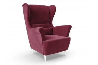 Fotel USZAK welur - bordowy
