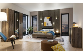 Sypialnia VERA 3D łóżko 180 x 200