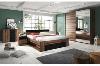 Sypialnia BETA łóżko 160 x 200 ze stelażem