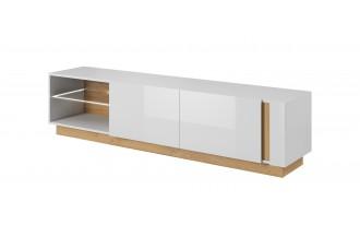ARCO - stolik RTV 187 biały połysk