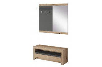 EVOKE - garderoba szafka dolna + panel EGD113