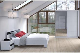Sypialnia LUCJA 160 x 200 cm 4 szerokości szafy
