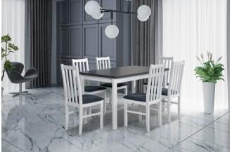Zestaw stół ALBA 2 + 6 krzeseł BOS 10