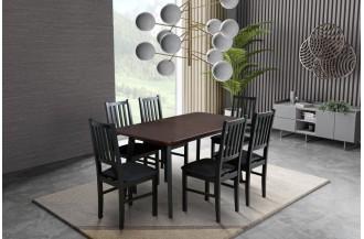 Zestaw stół OSLO 7 + 6 krzeseł NILO 7