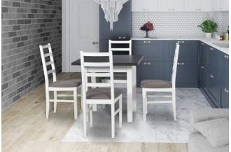 Zestaw stół MAX 7 + 4 krzeseł NILO 8