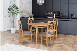 Zestaw stół OSLO 1 + 4 krzesła NILO 11