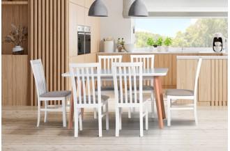 Zestaw stół OSLO 7 + 6 krzeseł MILANO 1