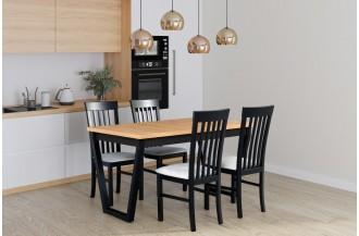 Zestaw stół IKON 2 + 4 krzesła MILANO 2