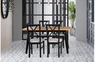Zestaw stół OSLO 10 + 4 krzesła MILANO 4