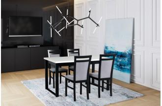 Zestaw stół ALBA 3 + 4 krzesła MILANO 5
