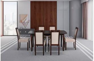 Zestaw stół KENT 1 + 6 krzeseł ROMA 5