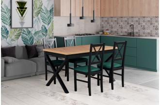 Zestaw stół IKON 1 + 4 krzesła NILO 10