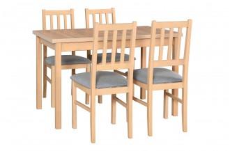 Zestaw stół MAX 10 + 4 krzesła BOS 4
