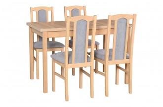 Zestaw stół MAX 10 + 4 krzesła BOS 7