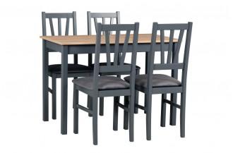 Zestaw stół MAX 2 + 4 krzesła BOS 5
