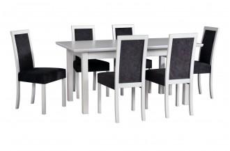 Zestaw stół WENUS 5 LS + 6 krzeseł ROMA 3