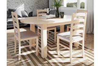 Zestaw stół rozkładany STF 5 + 4 krzesła KT 1