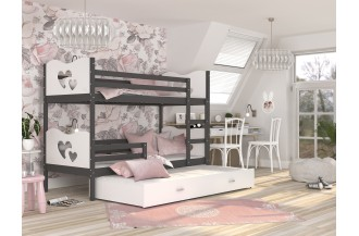 Łóżko MAX 3 szare