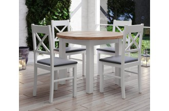 Zestaw stół rozkładany STL 52/1 + 4 krzesła KT 22