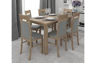 Zestaw stół rozkładany STL 62/1 + 6 krzeseł KT 25