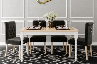 Zestaw stół rozkładany STL 66/1 + 6 krzeseł KT 60