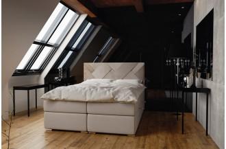 Łóżko kontynentalne BELIZE - 2 pojemniki na pościel