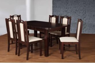 Zestaw stół S24 + 6 krzeseł D56