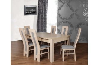 Zestaw stół MAX 1K + 6 krzeseł D61