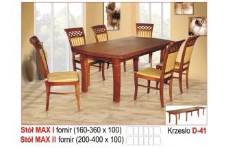 Zestaw stół max I + 6 krzeseł D41