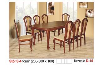 Zestaw stół S4 + 8 krzeseł D15