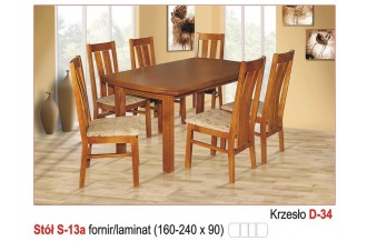 Zestaw stół S13 a + 6 krzeseł D34