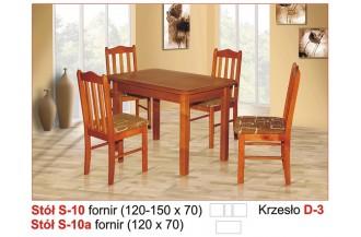 Zestaw stół S10 + 4 krzesła D3