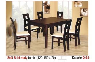 Zestaw stół S14 mały + 6 krzeseł D24