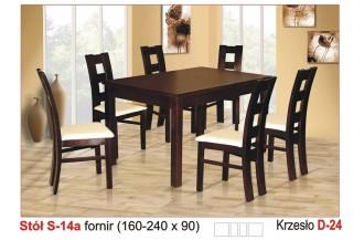 Zestaw stół S14A + 6 krzeseł D24