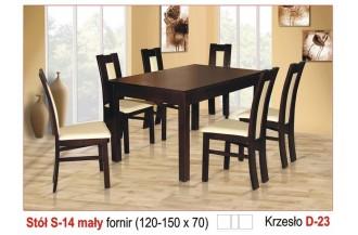 Zestaw stół S14 mały + 6 krzeseł D23