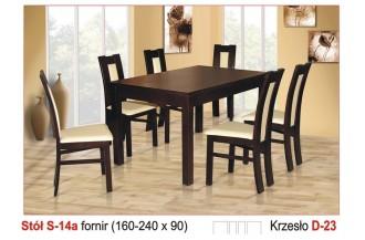 Zestaw stół S14A + 6 krzeseł D23