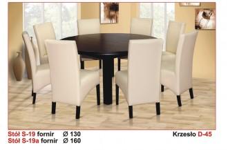 Zestaw stół okrągły S19A + 8 krzeseł D45
