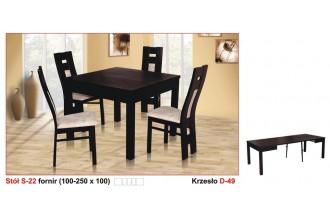 Zestaw stół S22 + 4 krzesła D49
