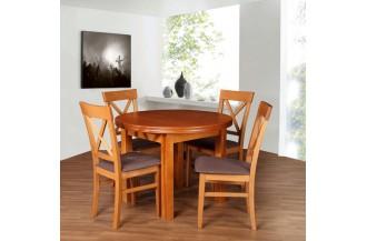 Zestaw stół okrągły + 4 krzesła D58