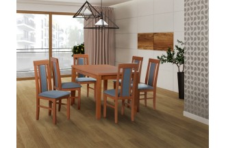 Zestaw stół MAX 5 + 6 krzeseł NILO 1