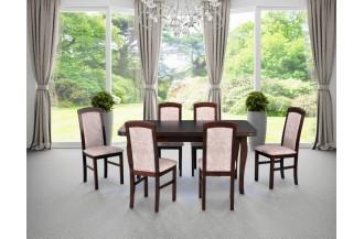 Zestaw stół LUDWIK + 6 krzeseł NILO 5