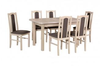 Zestaw stół WENUS 2 L + 6 krzeseł BOS 6
