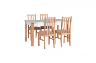 Zestaw stół ALBA 2 + 4 krzeseł BOS 10